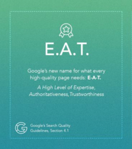 Google's EAT update