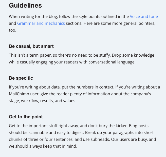 Content pros Guidelines