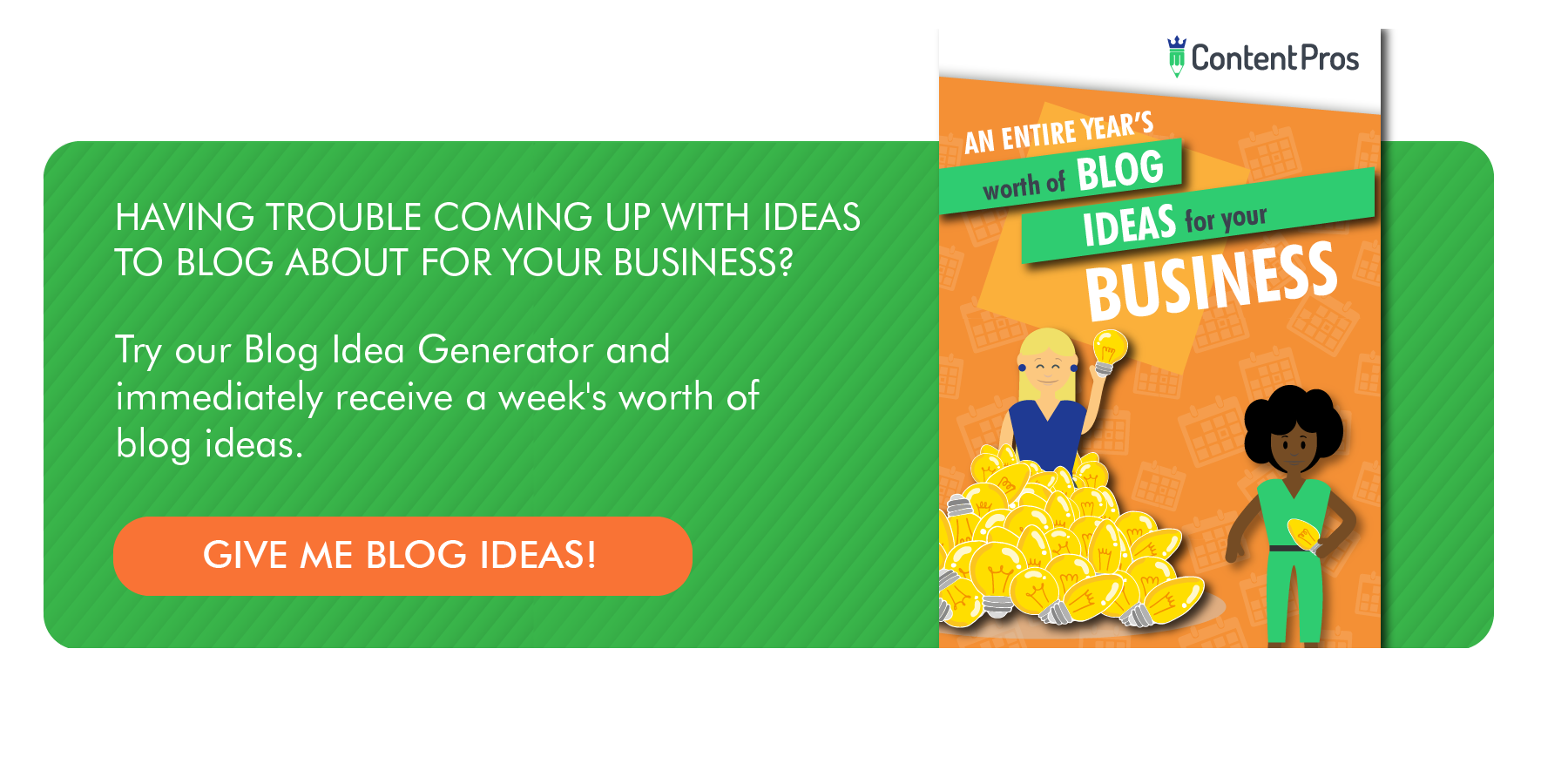 Content Pros Blog Ideas for your business