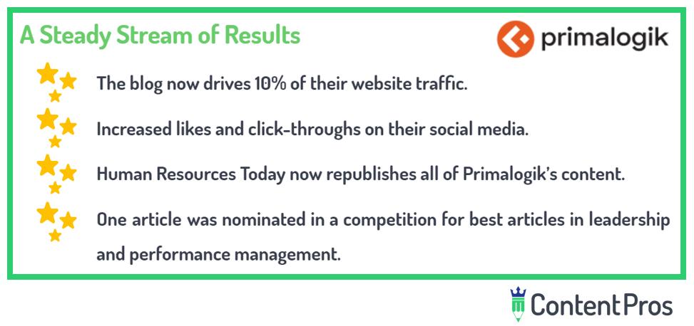 highlight of Primalogik's results