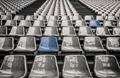standing out in a sea of grey chairs