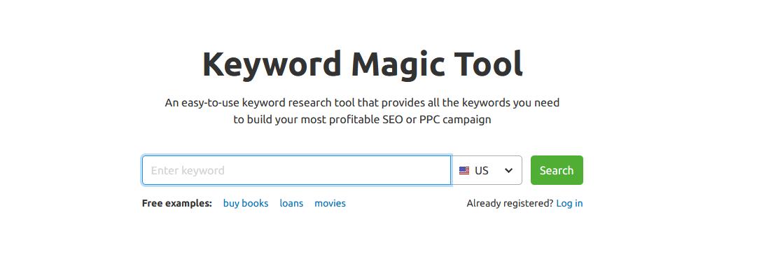 SEMrush keyword magic tool screenshot