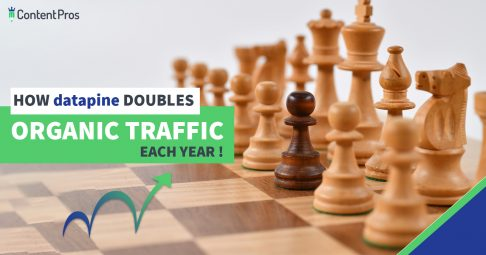 datapine doubles organic blog traffic every year