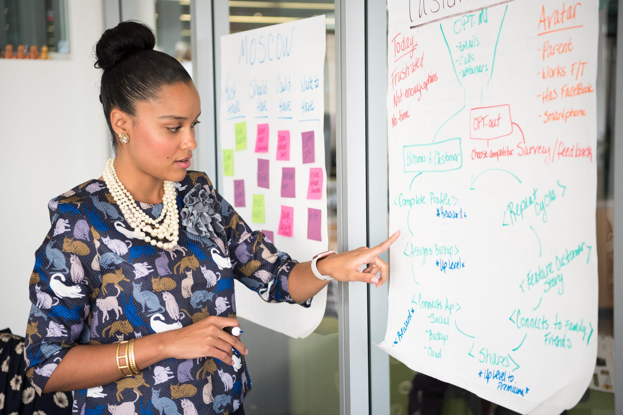 woman developing a strategy