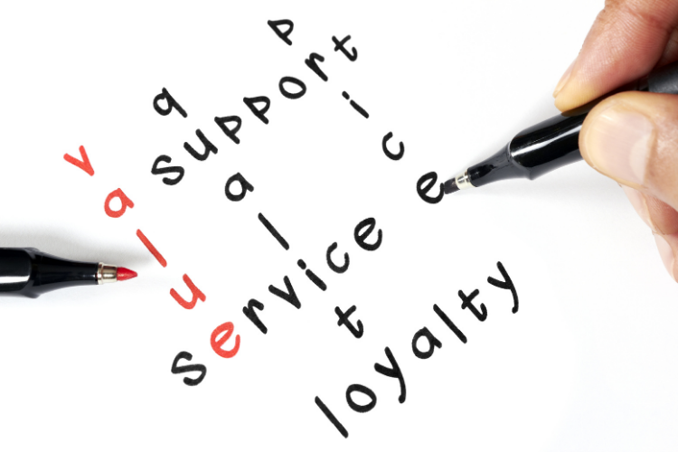Value proposition, service, loyalty, quality, support, price